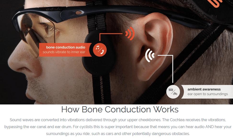 bone conduction cycling helmet linx