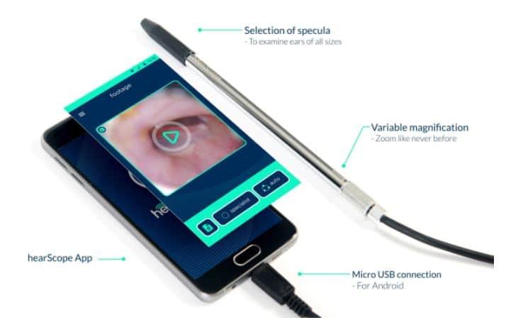 hearscope features otoscope