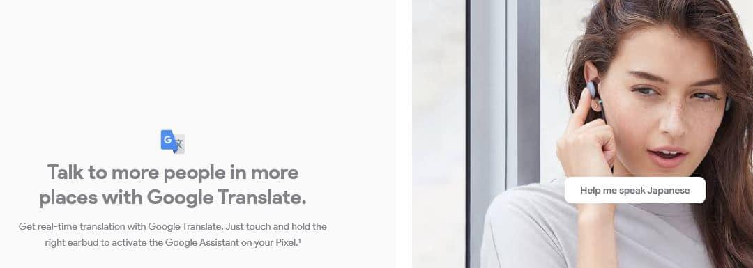 pixel buds language translation