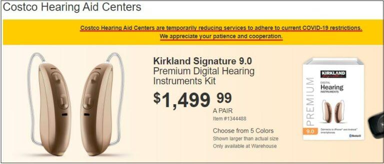 costco hearing aid center covid 19