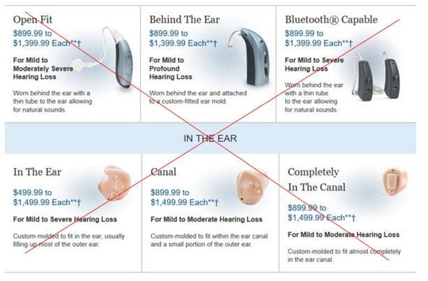 costco discontinued hearing aid prices