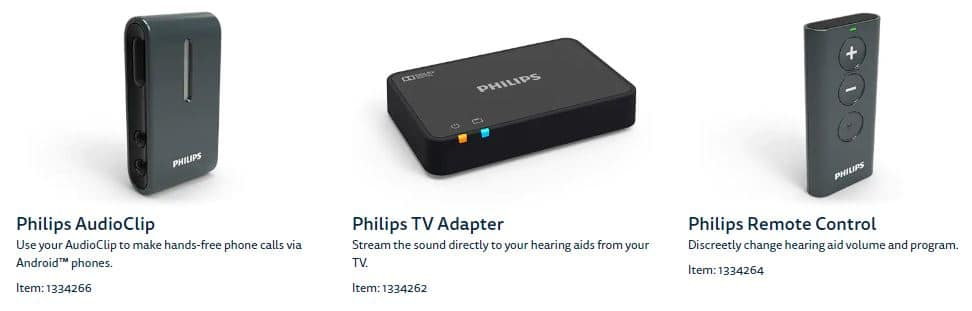 philips hearing aid accessories