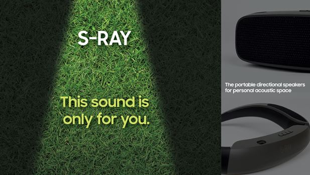 samsung s-ray directional speakers