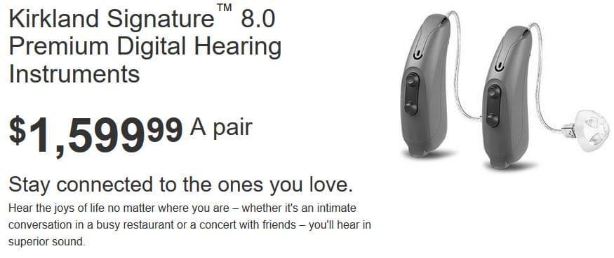 7.0 hearing premium aids Kirkland signature