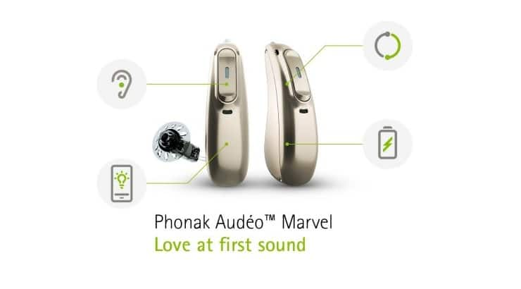 Phonak Audeo Marvel Hearing Aids with Universal Binaural