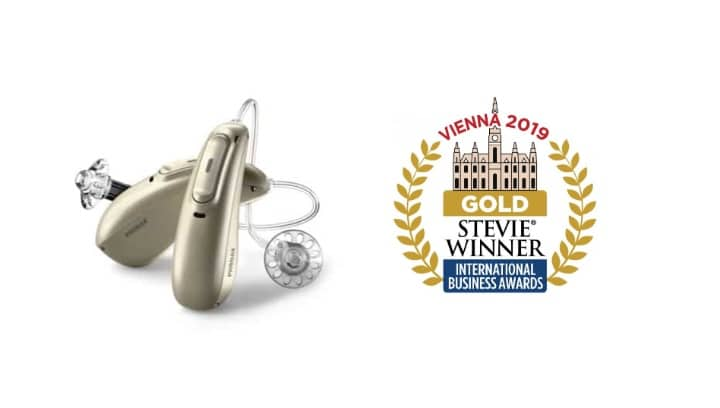 phonak marvel hearing aids gold stevie award