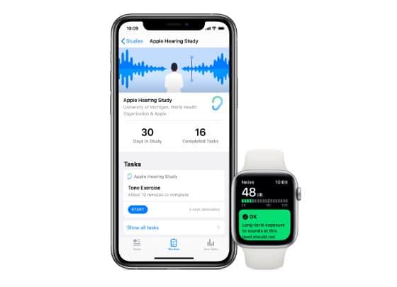 apple hearing study speech noise