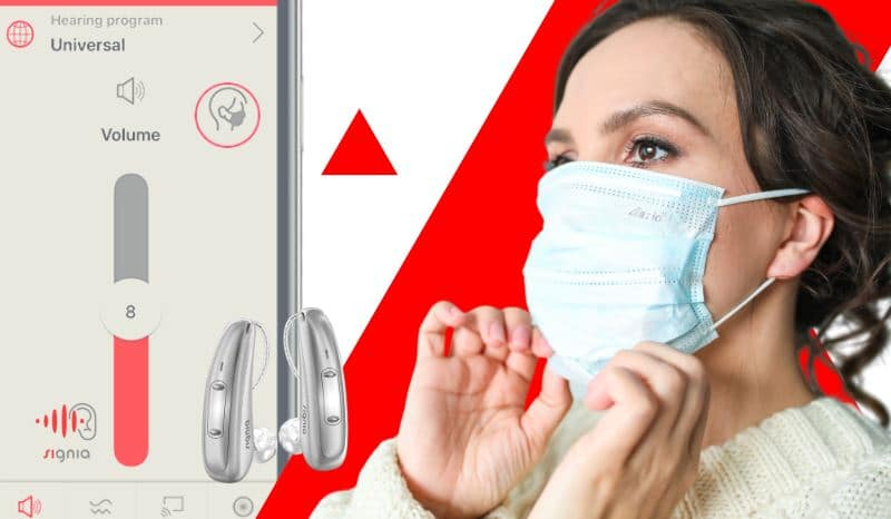 face mask mode signia hearing aids