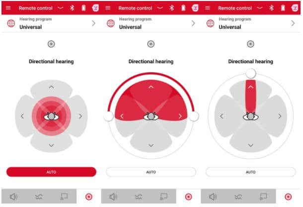 signia hearing aid app directionality