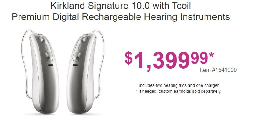 costco ks 10 hearing aid price