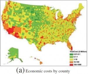 Economic Cost of Influenza by County