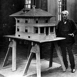 "Edison's ""bomb-proof"" house ""In the style of Francois I"""