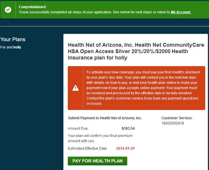 healthnet confirmation of aca plan coverage