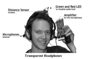 Fig 1. 2002 innovation in headphones with hearing aid-like features.