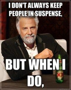most interesting man suspense