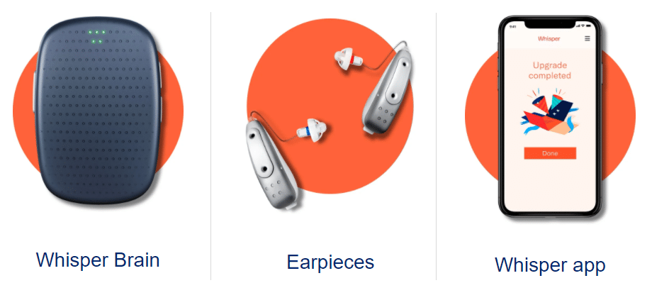 whisper hearing aid system