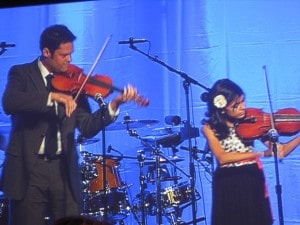 Justin Osmond and 10-year-old Isela Barron played a violin duet.