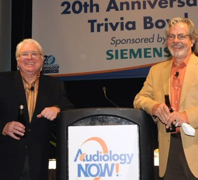 Gus Mueller and Jerry Northern at the 20th annual Trivia Bowl 2009 in Dallas.