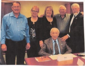 Ray Rich, in front, is shown in 2011 with other board members of the Hearing Foundation: from left,