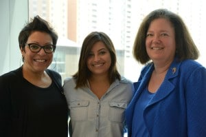Dr. Nancy Young, at right, with Alexandra Falkiewicz and her mother