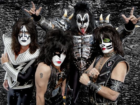 Paul Stanley, at right, with his Kiss bandmates.