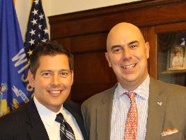 Rep. Sean Duffy, left, and Matt Eversmann, national spokesman for Fit to Serve.