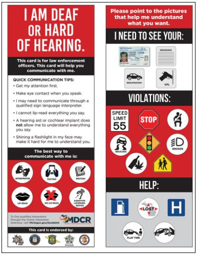 hearing loss card