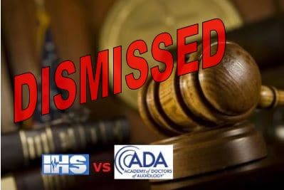 tinnitus lawsuit dismissed ada ihs