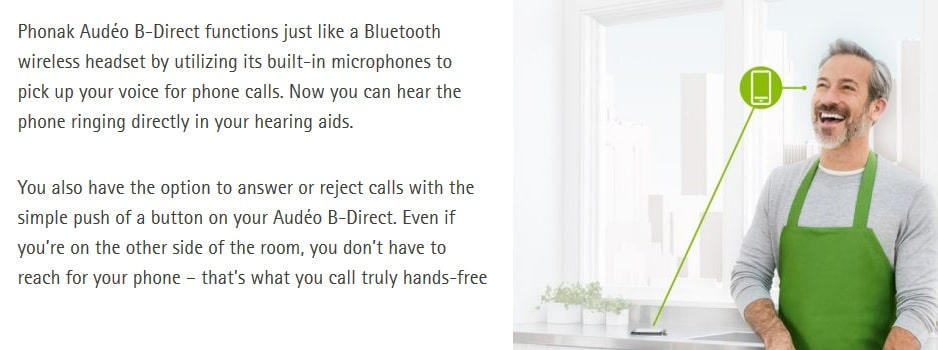 audeo b direct phone calls