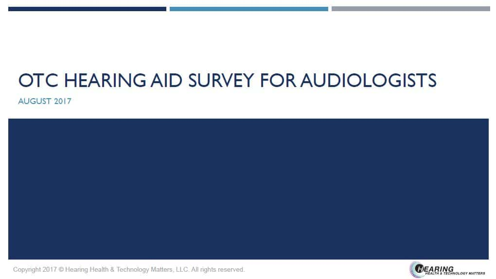 audiologist otc hearing aid report results