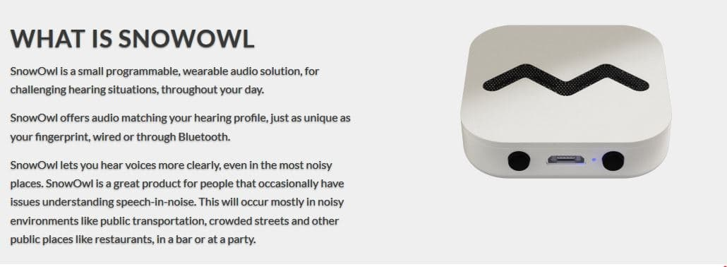 snow owl hearable amplifier