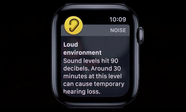 apple watch noise level decibels