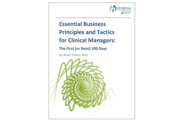 audiology business manager book