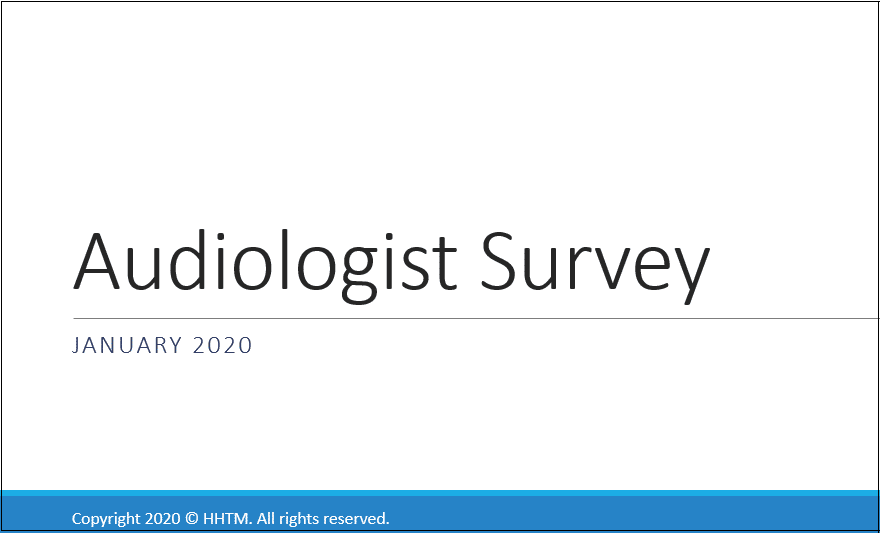 hhtm audiology survey 2020