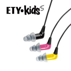 ETYKids earphones that generate safe levels without distortion. Photo courtesy of www.Etymotic.com