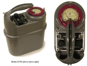 Figure 5.  By July of 1950, the Models 247B, C and D were also available.  The Model 247A was also given the military designation IM-3/PD. http://www.orau.org/ptp/collection/surveymeters/vic247a.htm