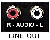 Figure 3.  Image of a TV audio line output used to send the audio signal to a wire loop or pad.