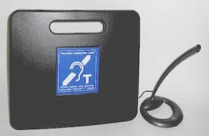 Figure 6.  One-on-one portable wire loop integrated into a small , portable, rechargeable system.